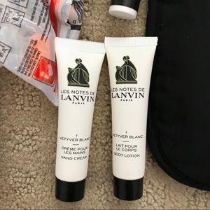 Lanvin travel amenities kit